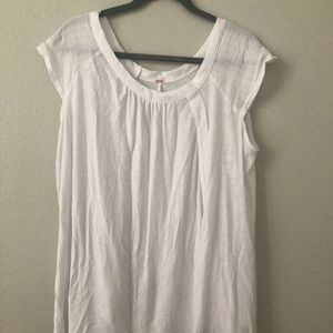 Free people white linen tunic top shirt SMALL